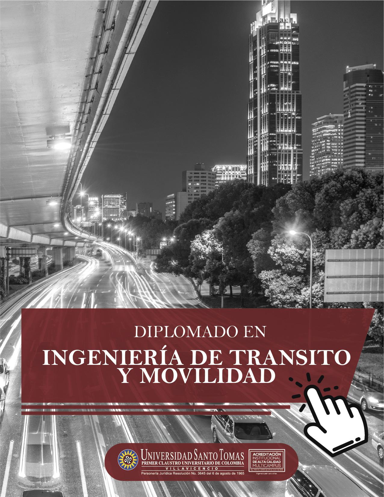 Diplomado en Ingeniería de Transito y Movilidad USTA Villavicencio
